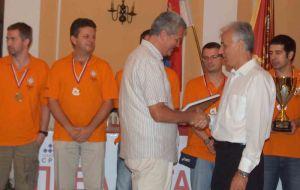 Dragan Solak ödül töreninde